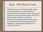 baer 5 05 district court