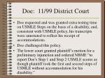 doe 11 99 district court