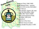know nothing party