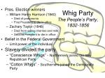 whig party the people s party 1832 1856