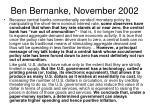 ben bernanke november 2002