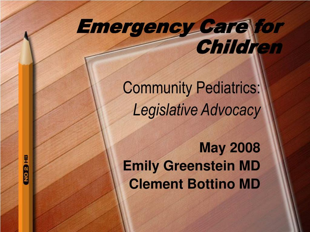 emergency care for children l.