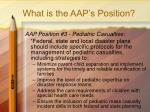 what is the aap s position17