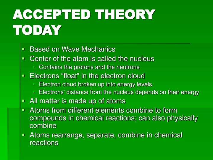 ACCEPTED THEORY TODAY