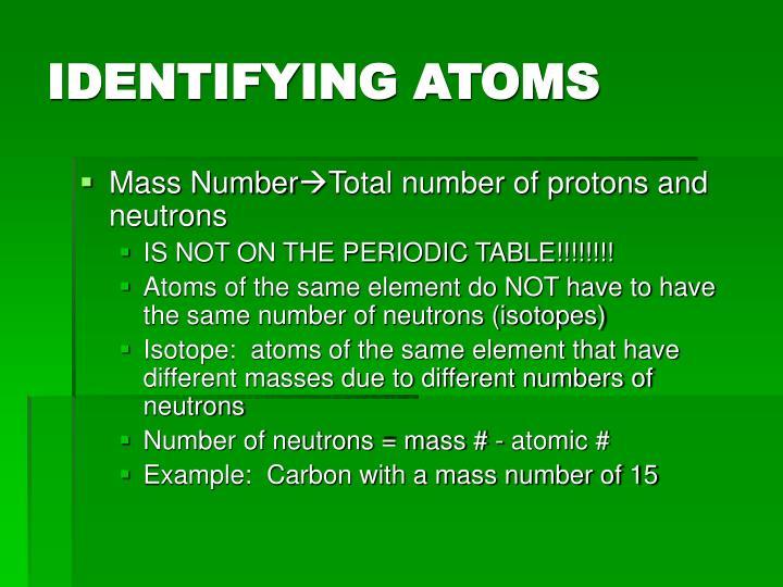 IDENTIFYING ATOMS