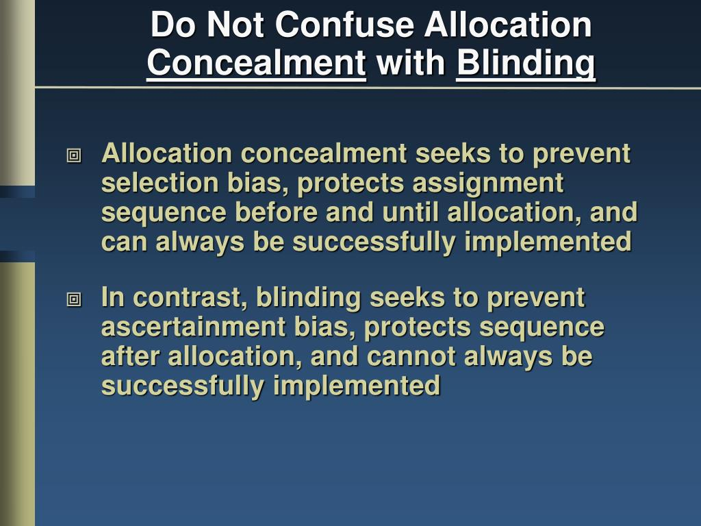 Do Not Confuse Allocation