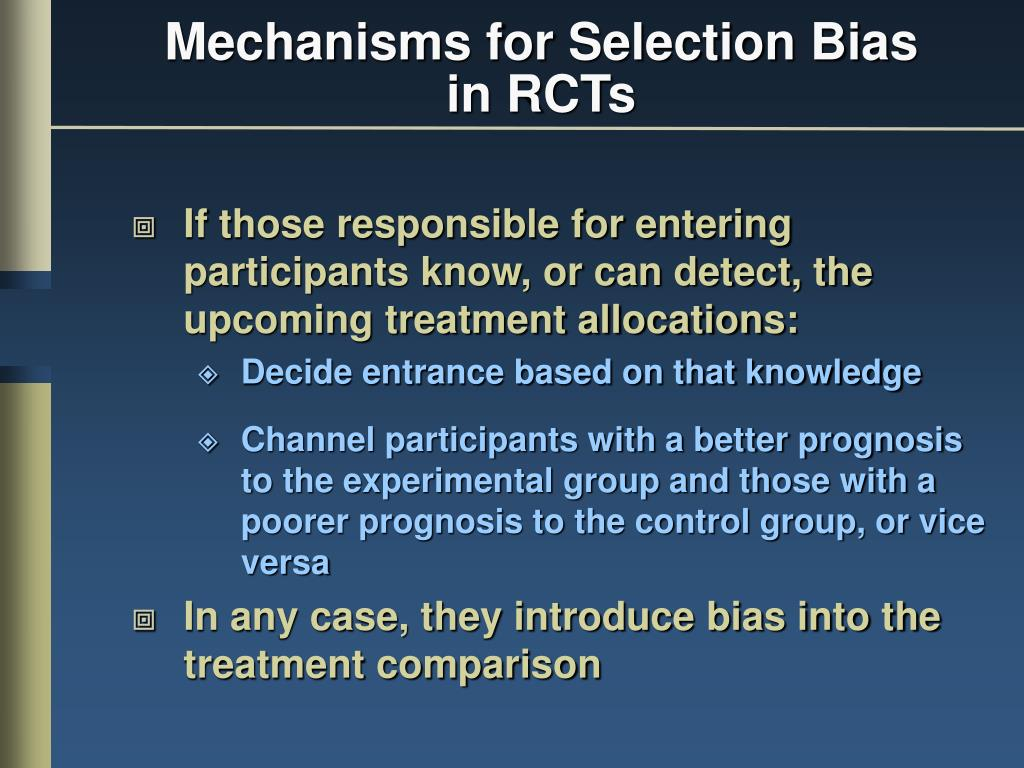 Mechanisms for Selection Bias