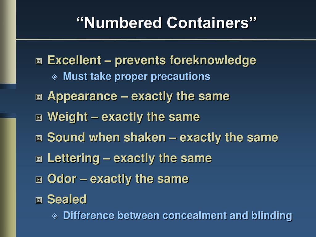 """Numbered Containers"""