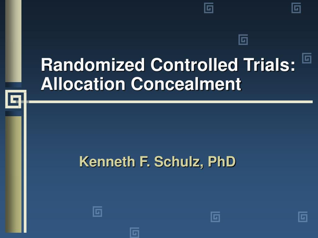 randomized controlled trials allocation concealment l.