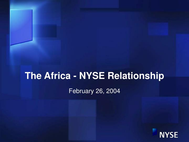 the africa nyse relationship n.