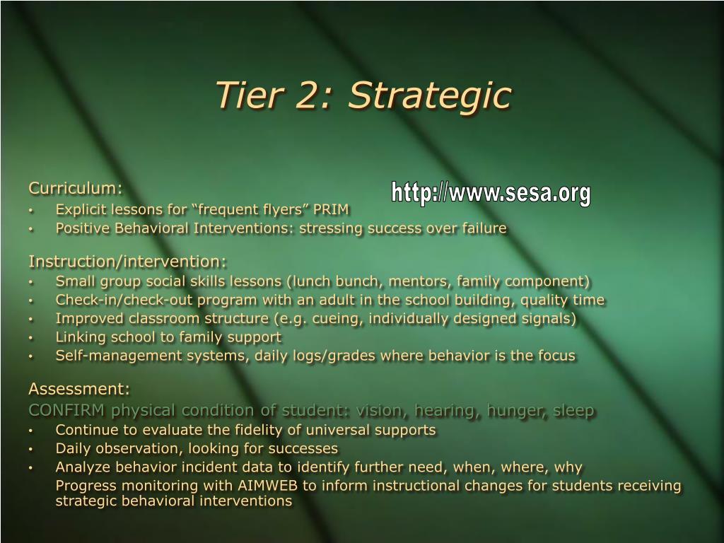 Tier 2: Strategic