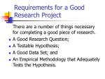 requirements for a good research project