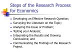 steps of the research process for economics