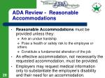 ada review reasonable accommodations