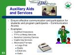auxiliary aids and services