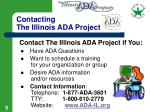 contacting the illinois ada project