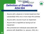 definition of disability ada 504