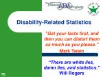 disability related statistics