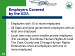 employers covered by the ada
