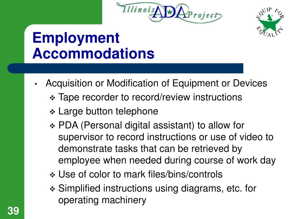 Employment Accommodations