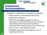 employment accommodations39