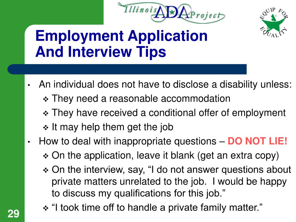 Employment Application And Interview Tips