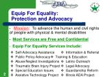 equip for equality protection and advocacy