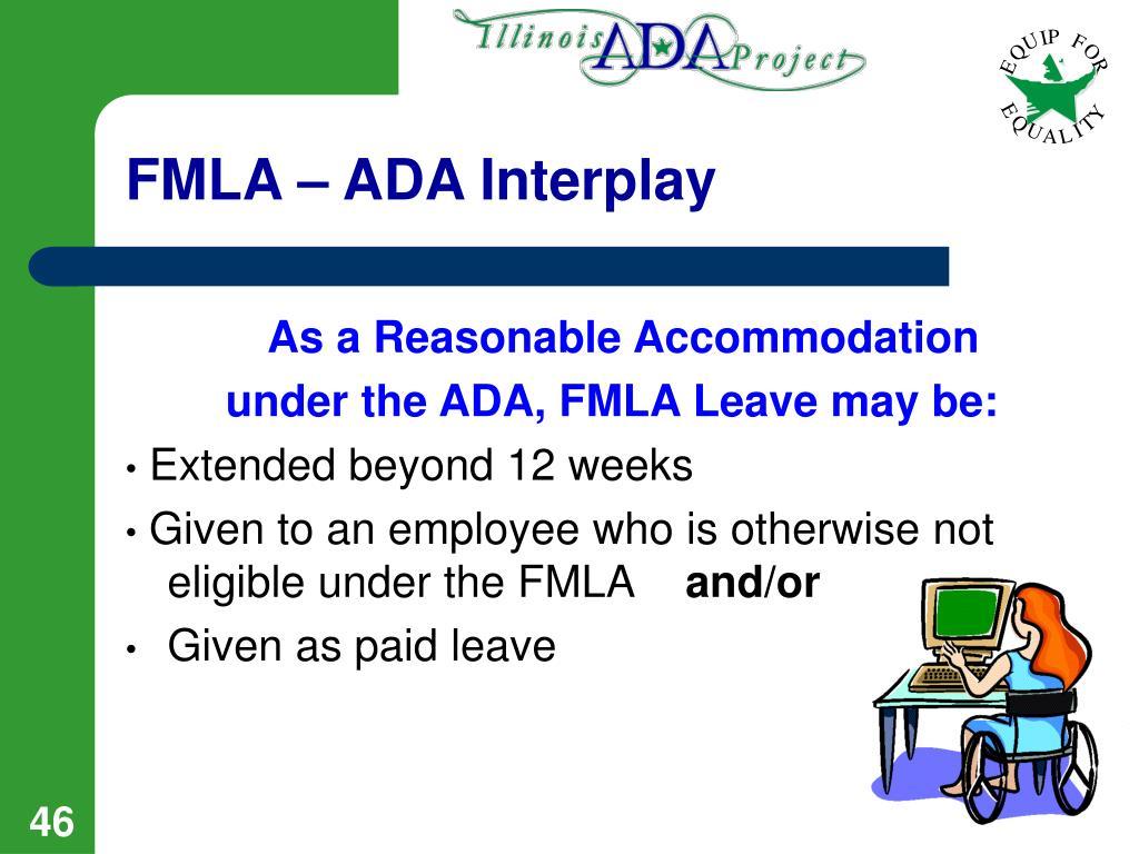 FMLA – ADA Interplay
