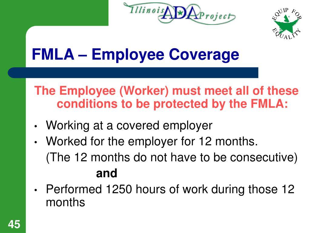 FMLA – Employee Coverage