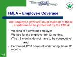 fmla employee coverage