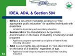 idea ada section 504