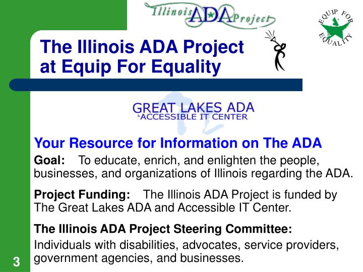 The illinois ada project at equip for equality