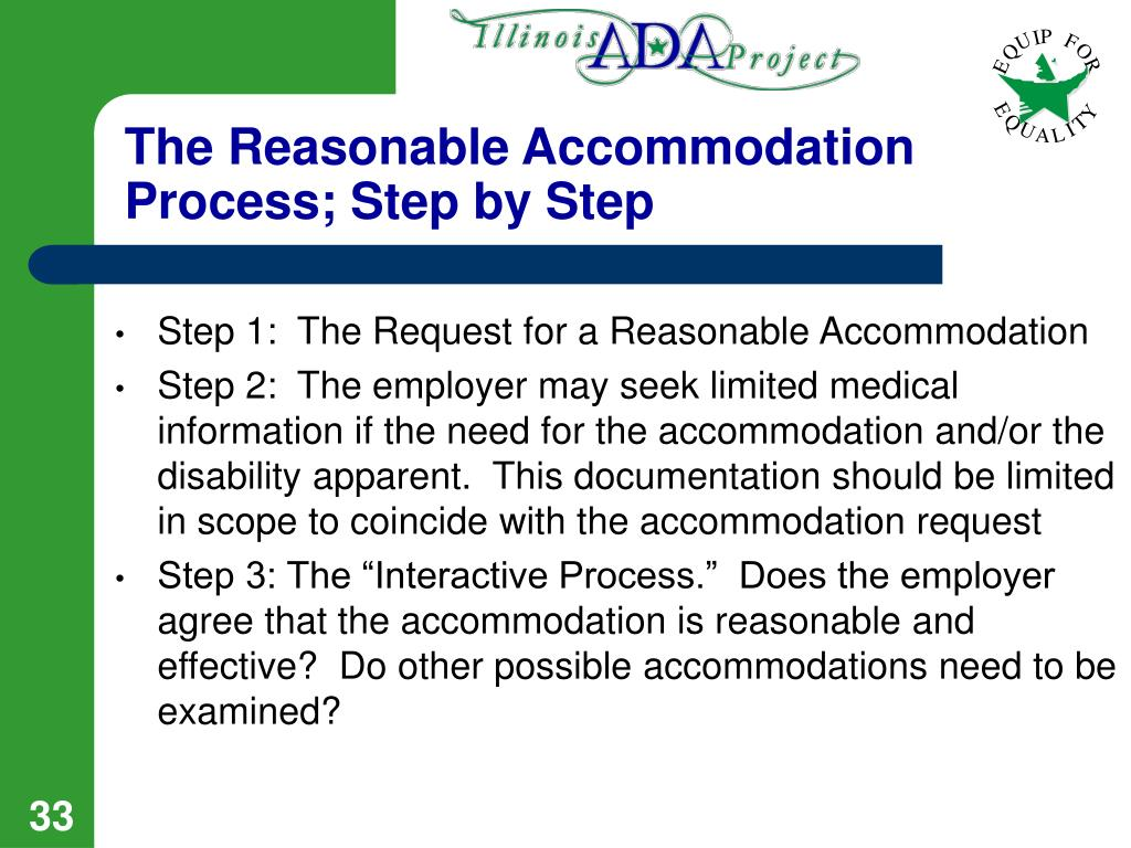 The Reasonable Accommodation Process; Step by Step