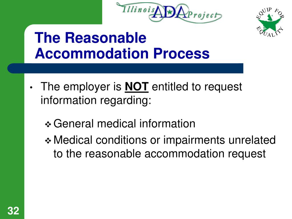 The Reasonable Accommodation Process