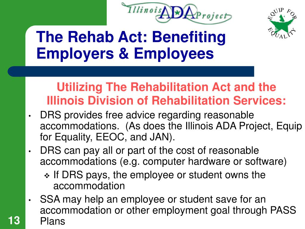 The Rehab Act: Benefiting Employers & Employees