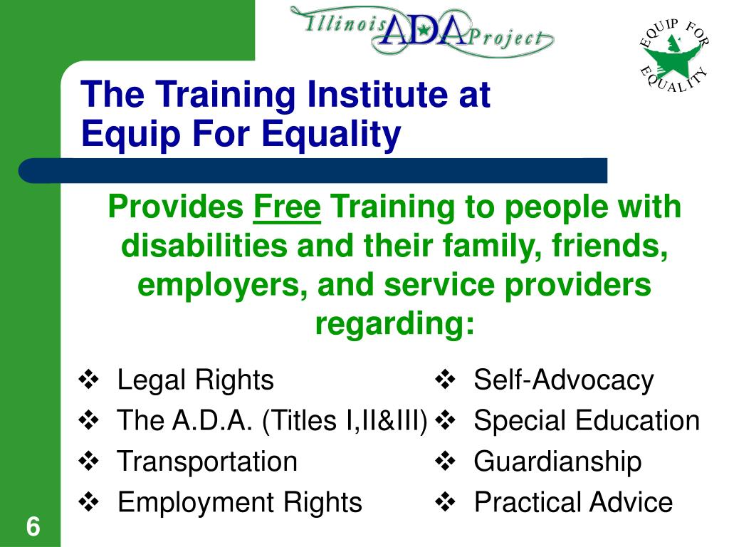 The Training Institute at Equip For Equality