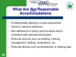 what are not reasonable accommodations