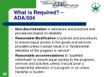 what is required ada 504