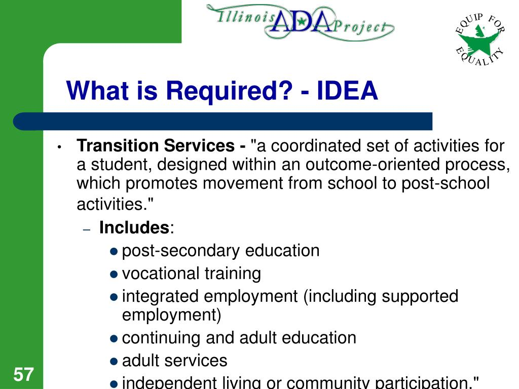 What is Required? - IDEA