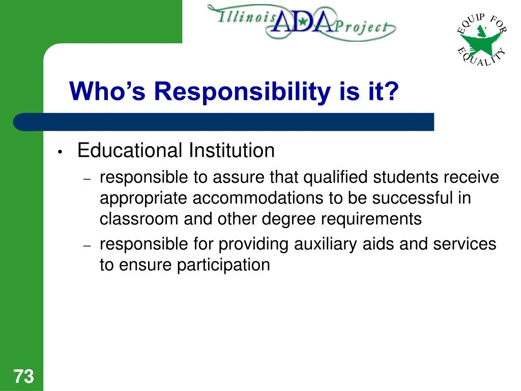 Who's Responsibility is it?