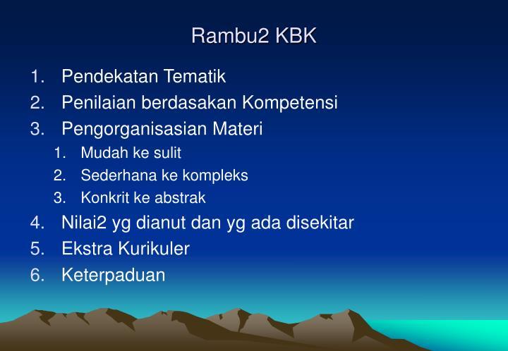 Rambu2 KBK