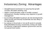 inclusionary zoning advantages