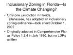 inclusionary zoning in florida is the climate changing
