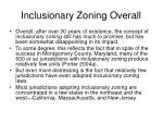 inclusionary zoning overall