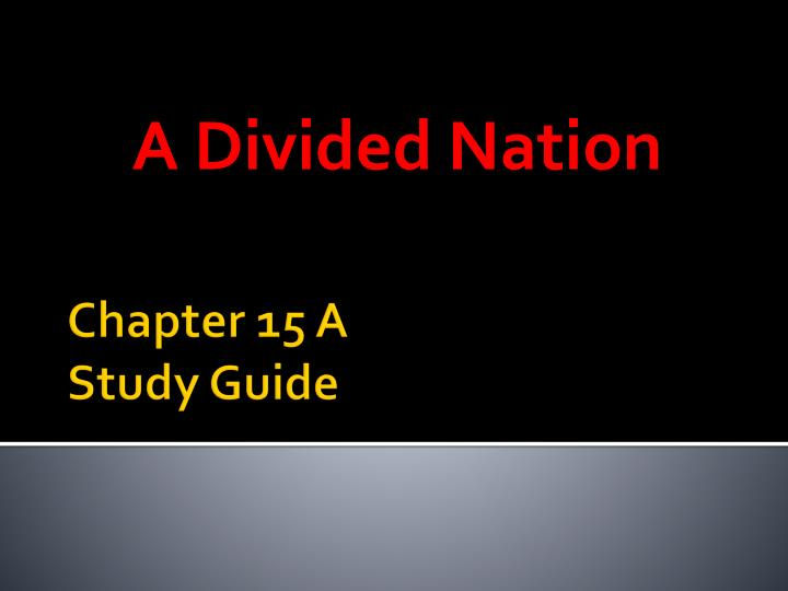 a divided nation n.
