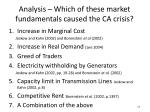 analysis which of these market fundamentals caused the ca crisis