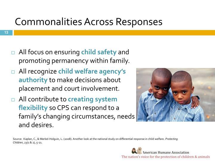 Commonalities Across Responses