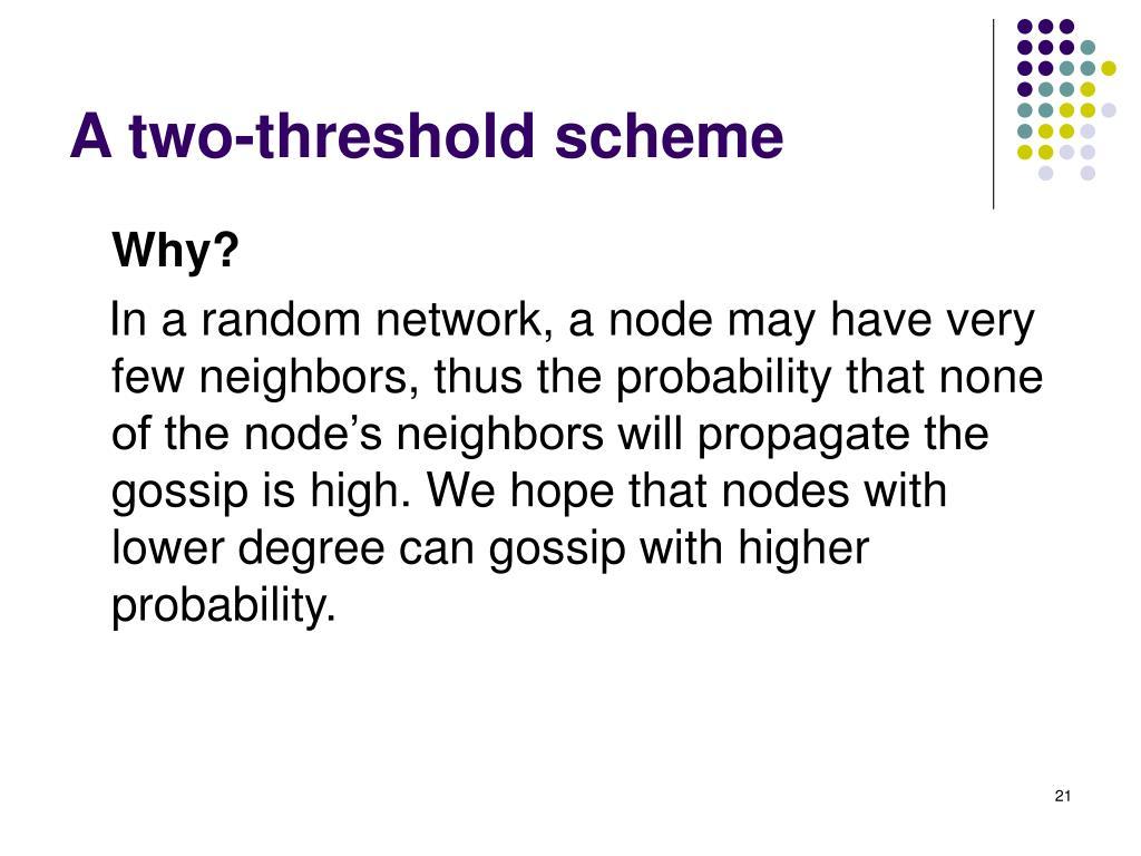 A two-threshold scheme