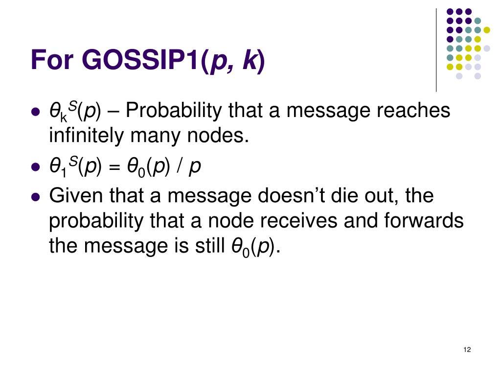 For GOSSIP1(