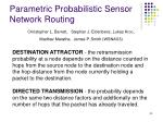 parametric probabilistic sensor network routing